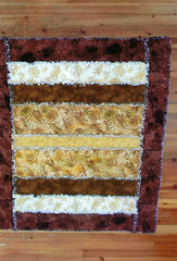 "Neutral Rag Quilt 51.5"" x 60"" Finished"
