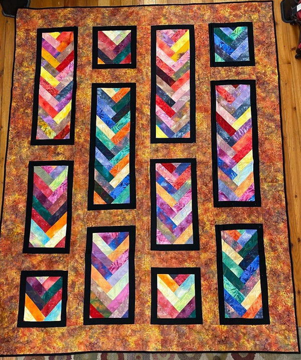 Orange Dreamcicle Finished Quilt 84.5x67.25