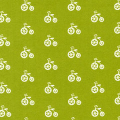Robert Kaufman Cozy Cotton Grass Bicycle srkf 17650 47