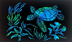 "Sea Turtle Silouette Laser Cut ST-L-2018 24"" x 14"""