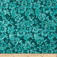 Timeless Treasures - Poppies  TONGA-B4171 TEAL