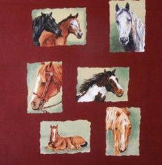 Troy Fabrics W6 Horsin Around Panel