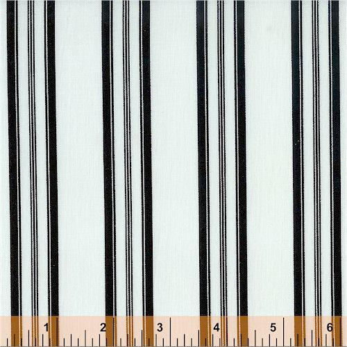 WF Elegance Black Stripes on White 27276-2