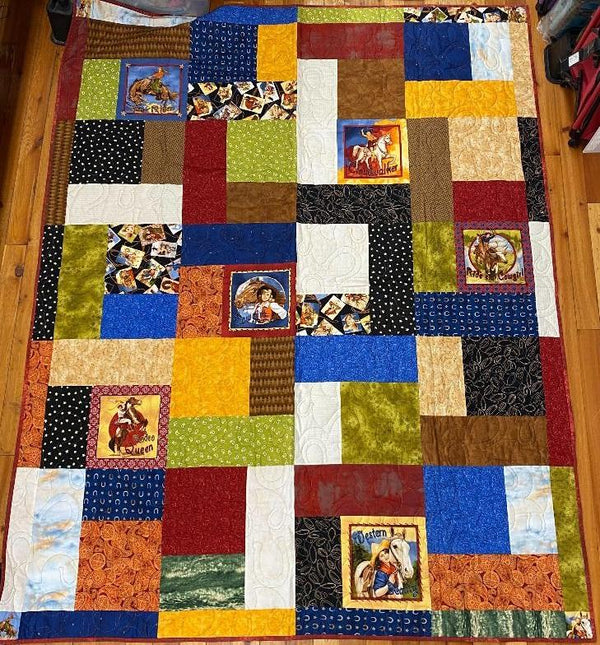 Western Mayhem Finished Quilt 81x64