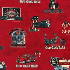RK Old Guys Rule Red AODD-17518-3 RED