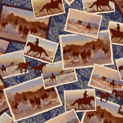 WH Ranch Hands Post Cards Blue