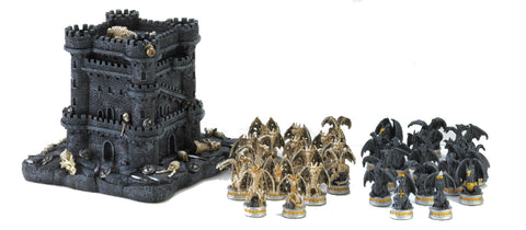 Dragon Themed Chess Set with Black Tower