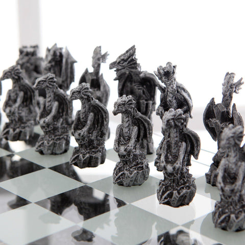 Themed Unique Chess Sets - Dragons and Bones_closeup3