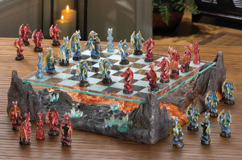 Themed Chess Sets-Stream of Flames