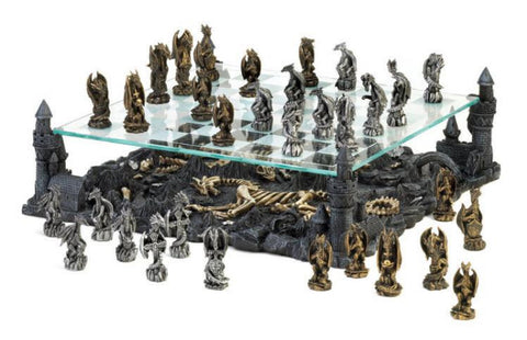 Themed Unique Chess Sets - Dragons and Bones_board