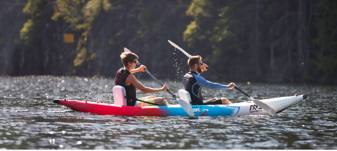Inflatable sea touring kayak