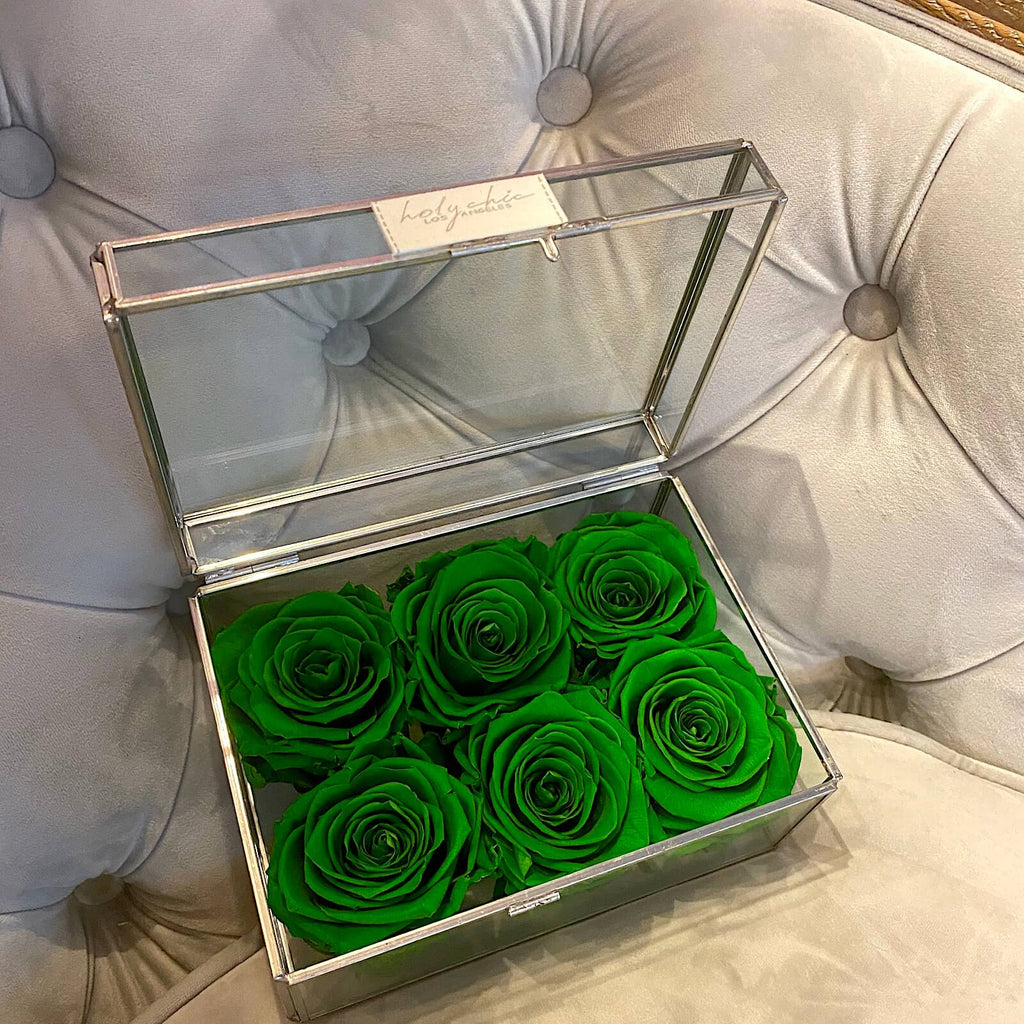 Jewelry Glass Flower Box