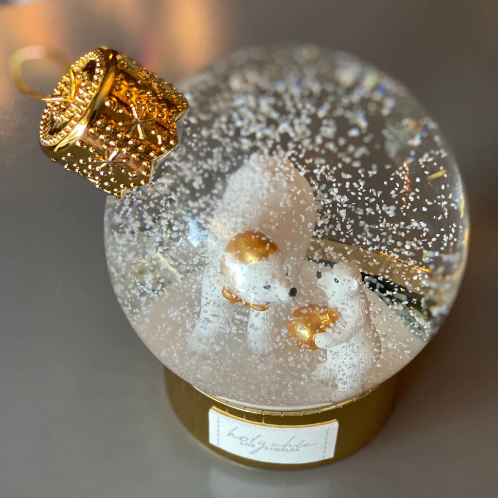 Christmas Polar Bear Snow Globe