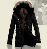 IB Thick Warm Long Men's Jacket with Fur,Hood /Warm Winter Coat Men. - Shop IB
