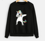 IB New Black Unicorn Sweatshirt for Women (DAB). - Shop IB