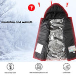 Men Outdoor USB Infrared Heating Vest Hooded Jacket Winter Electric Thermal Waistcoat - Shop IB