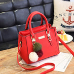 Women Hairball ornaments totes solid sequined handbag - Shop IB