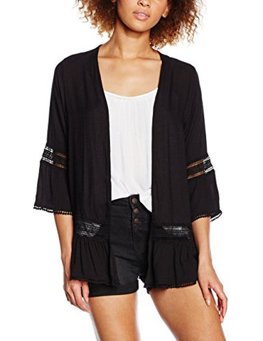 New Look Women's Flutter Sleeve Crochet Shrug, Black, 8 - Shop IB