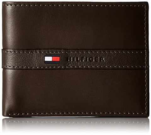 Tommy Hilfiger Men's Leather Ranger Passcase Billfold Wallet, Brown - Shop IB