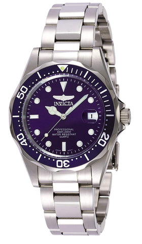 Invicta 9204 Pro Diver Unisex Wrist Watch Stainless Steel Quartz Blue Dial - Shop IB