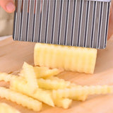 Potato French Fry Cutter Stainless Steel Kitchen Serrated Blade Easy Slicer - Shop IB