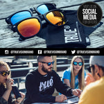 TRUE VISION Polarised Mens Sunglasses - Unisex Matt Black Frames with Grey Gradient UV400 Coloured Mirror Lenses, Hard PU Leather Case, Travel Bag, Microfibre Cleaning Cloth & Gift Box. - Shop IB