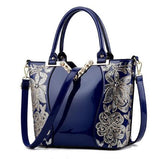 Sequin Embroidery Women Bag Patent Leather Handbag Diamond Shoulder Bag - Shop IB