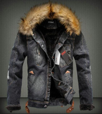 Men Thick Style Jeans Jacket Coat - Shop IB