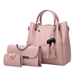 Shoulder Bag Women 3Pcs High Quality Tassel Shoulder Bag Crossbody Bag - Shop IB