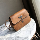 Women Messenger Bags Cross Body Bag PU Leather Mini Female Shoulder Bag - Shop IB