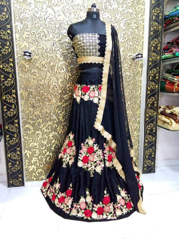 Showroom Style Black Designer Lehenga - Shop IB
