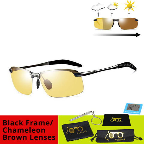 Polarized Photochromic Sunglasses Chameleon Lens - Shop IB