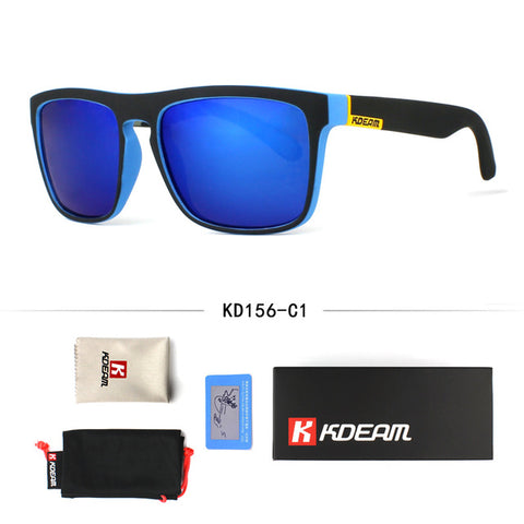 Fashion Guy's Sun Glasses From Kdeam Polarized Sunglasses Men Classic Design All-Fit Mirror Sunglass With Brand Box CE - Shop IB