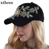 Xthree wholesale fall fashion Denim Baseball  cap  Sports Hat cap canvas Snapback caps hat for women good quality - Shop IB