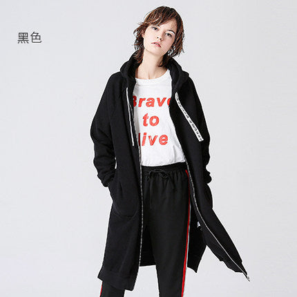 Toyouth Sweatshirts Autumn Women Long Hoodies Zipper