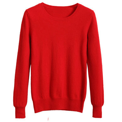 YuooMuoo High Quality Cashmere Sweater Women Winter Pullover Solid Knitted Sweater Top for Women Autumn Female Oversized Sweater - Shop IB