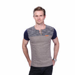Men's T Shirt Casual Patchwork Short Sleeve T Shirt Clothing Trend Casual Slim Fit Hip-Hop - Shop IB