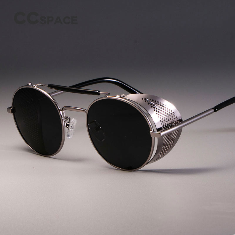 CCSPACE Retro Round Metal Sunglasses Steampunk - Shop IB