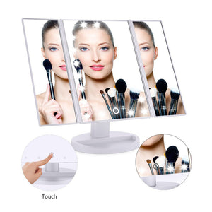 Vanity Makeup Mirror Trifold 21 LED Lighted - Shop IB