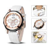 Luxury Brand Ladies Watch Fashion Leather Wrist Quartz Girl Watch for Women Lovers Dress Watches Clock - Shop IB