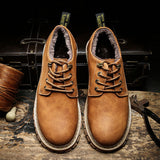 Merkmak New Fashion Italian Men Shoes Luxury Classic Men Leather Shoes Men Oxfords Designer Waterproof Martin Outdoor Footwear - Shop IB