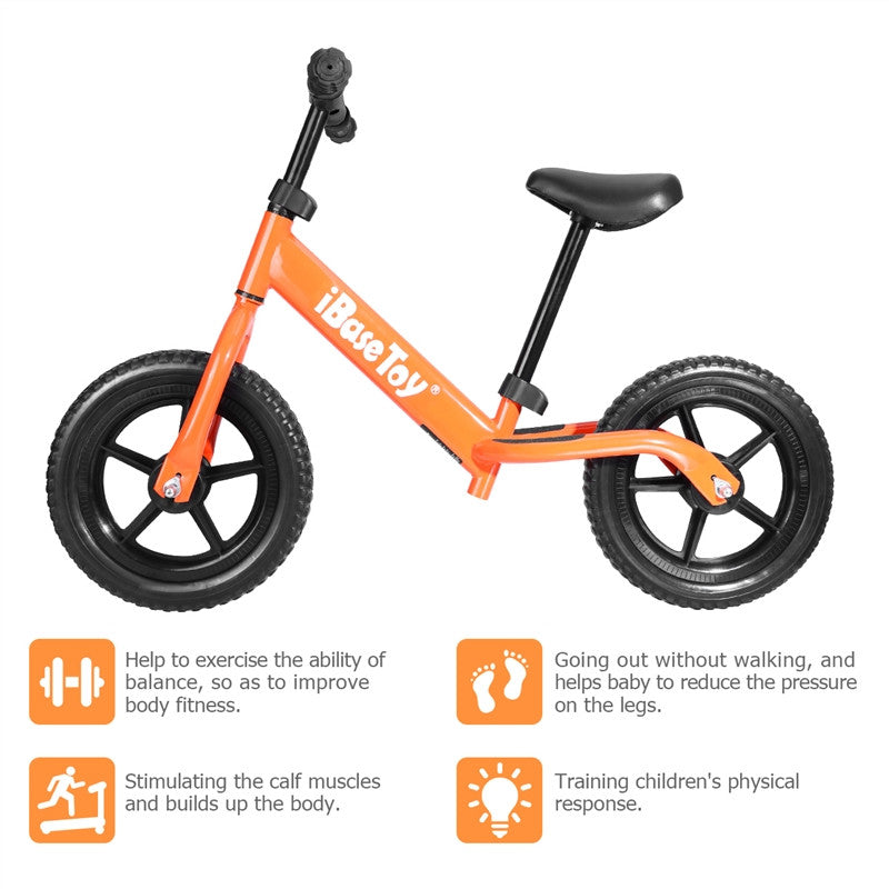 IBASE TOY No-Pedal Balance Bike for Kids Sport Walking Bicycle With Adjustable Handlebar - Shop IB