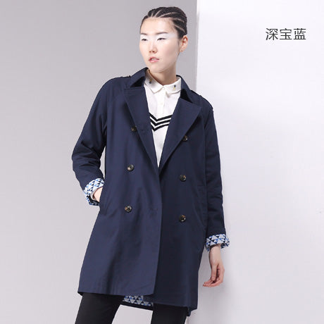 Toyouth British Style Women Long Trench Coat Double-Breasted Cotton Outerwear Coats Ladies Casual Solid Casacos Femininos S~XL - Shop IB