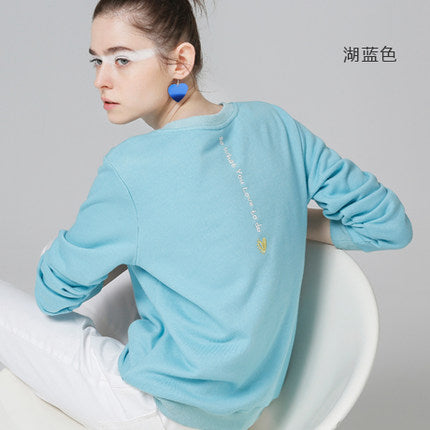 Toyouth White Sweatshirts Spring Women Letter Printed Hoodie - Shop IB