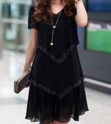 Summer Dresses Plus Size Women Clothing Chiffon Dress - Shop IB