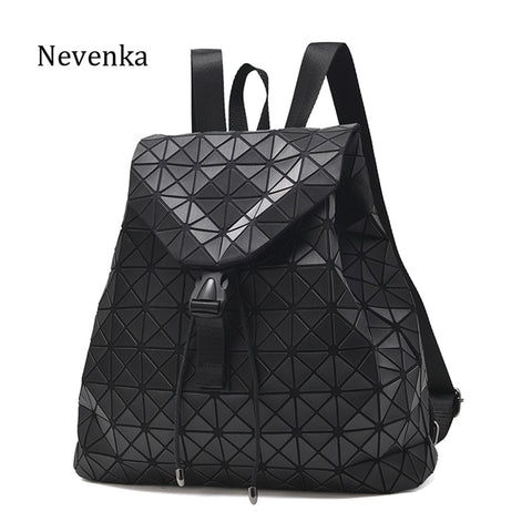 Nevenka Diamond Lattice Backpack Women Backpack Leather Creative Geometric Backpacks - Shop IB