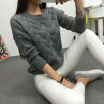 Winter O-neck Women's Sweater Knitted Jersey for Woman