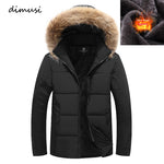 New Winter Men's Bomber Jacket Thick Thermal Cotton Parkas Casual Hoodie - Shop IB