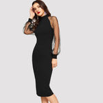 Midnight Black Partywear Pencil Bodycon Dress. - Shop IB