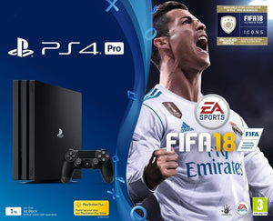 PS4 Pro 1To + FIFA 18 - édition deluxe + PS Plus 14 Jours